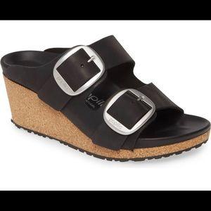 Birkenstock Nora Big Buckle Wedge Slide Sandal